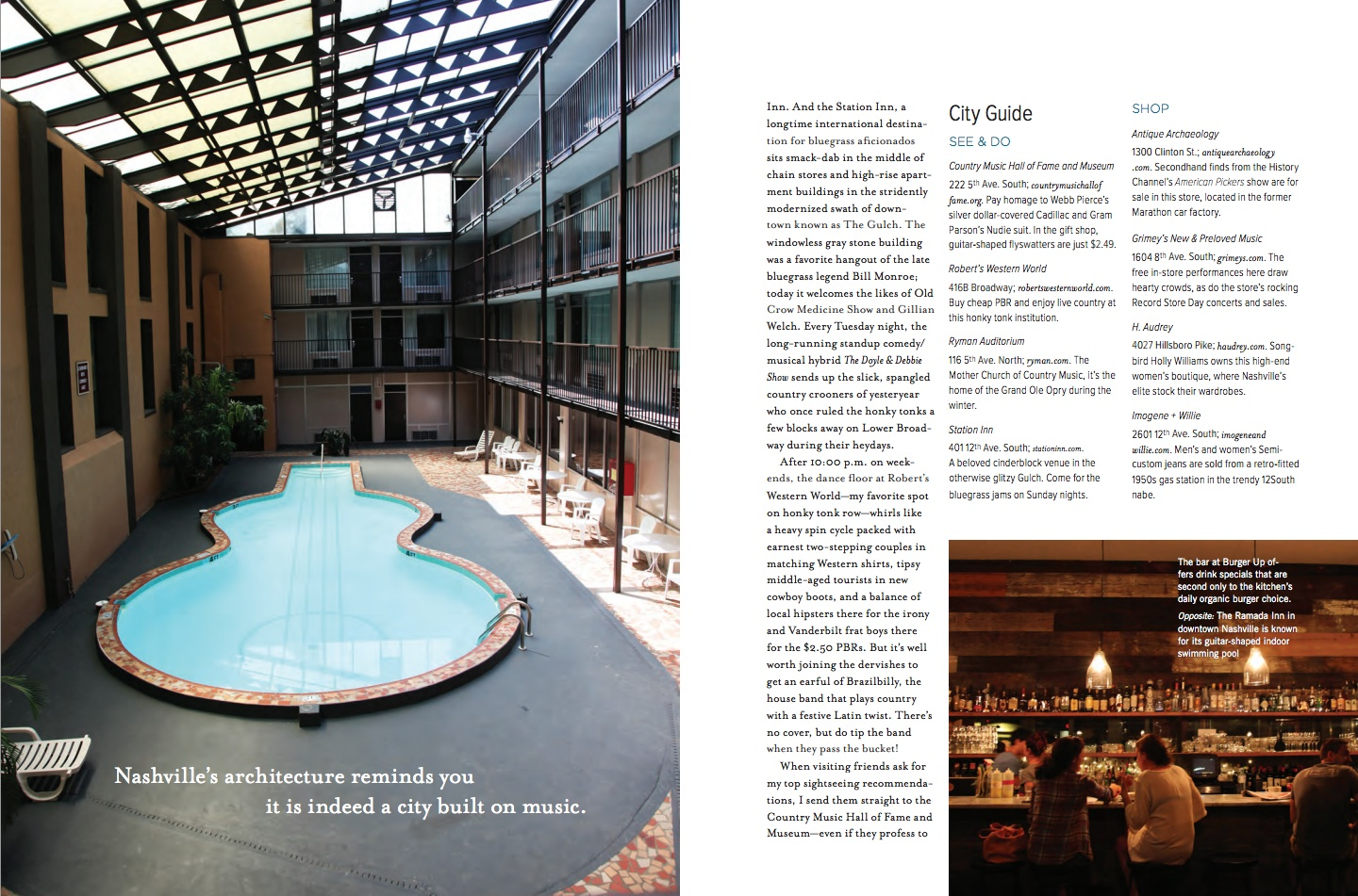 Nashville Travel Feature for Anthology Magazine